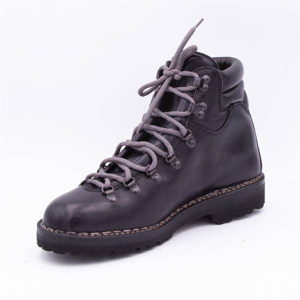 Chaussures cuir Mountain Homme anthracite noir .