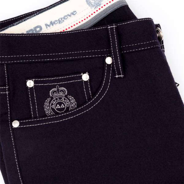 jeans flanelle extensible marine . .