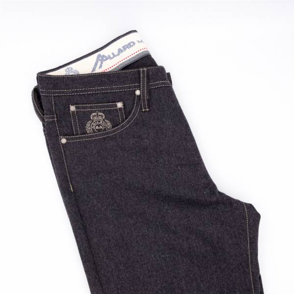 jeans flanelle extensible anthracite . .