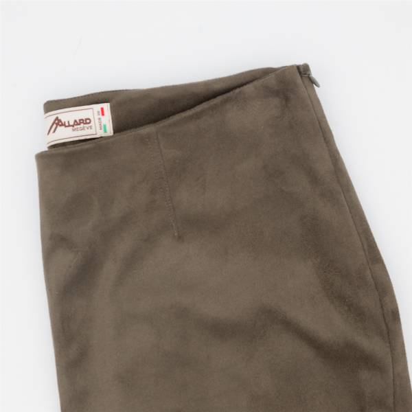 Pantalon cigarette ecopel extensible dark olive