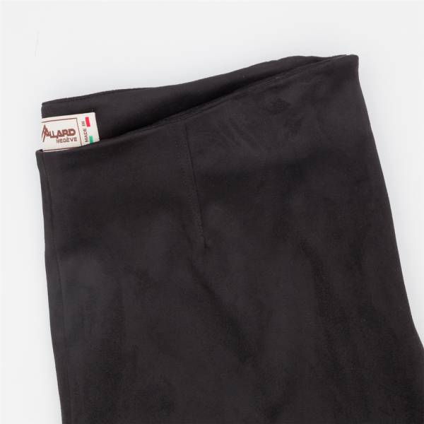 Pantalon cigarette ecopel extensible noir