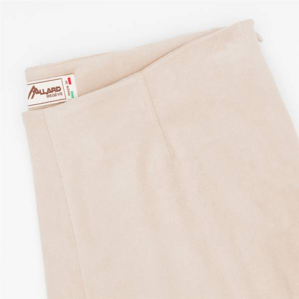 Pantalon cigarette ecopel extensible tourterelle