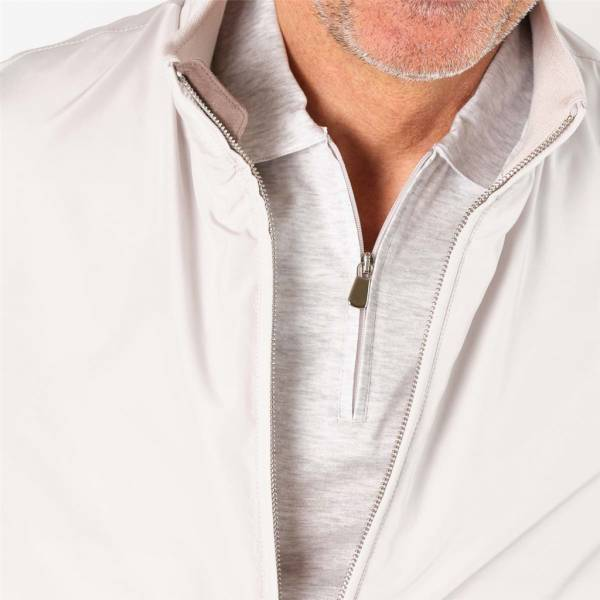 Blouson nylon japonnais doublé jersey cloud light grey